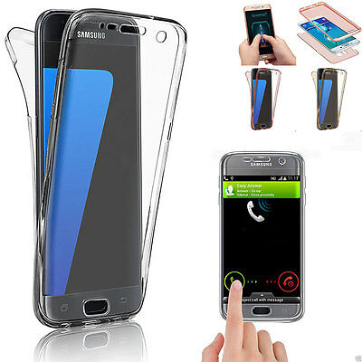 Shockproof 360° Silicone Phones Protective Clear Case Cover For Samsung Galaxy