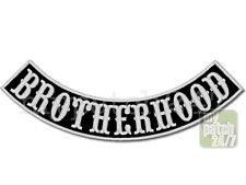 Aufnäher Biker Patch BROTHERHOOD Bogen unten 30cm gestickt, Bottom Rocker , MC