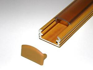 Aluminium-Channel-P2-for-LED-Light-Strips-Wood-PINE-CLEAR-Cover-End-Caps-1m