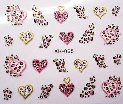 Edle,hochwertige Tattoos Sticker LEO HERZ Glitter  #XK-065