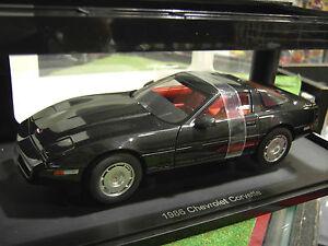 Chevrolet Corvette 1986 Noir Blk 1/18 Autoart 71242 Voiture Miniature Collection