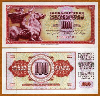 Yugoslavia, 100 Dinara, 1965, P-80 (80c), UNC