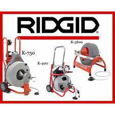 Ridgid K 7500 Machine 60052 K 400 T2 Machine 52363 K 3800 Machine 53117
