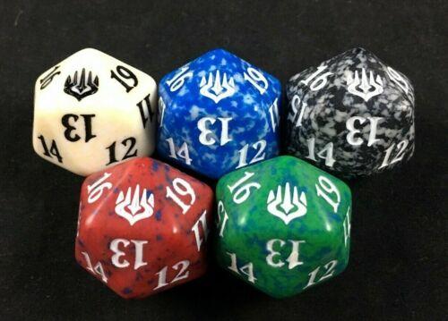 MTG Magic the Gathering D20 War of the Spark Bundle Spindown Dice Set of 5