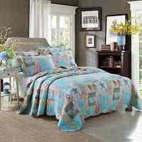 Seashell Beach Theme Bedding Queen Quilt Set Bedspread/patchwork Quilt Cotton