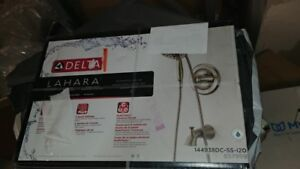 Delta Lahara In2ition Single-Handle 5-Spray Tub Shower Faucet Brushed Nickel