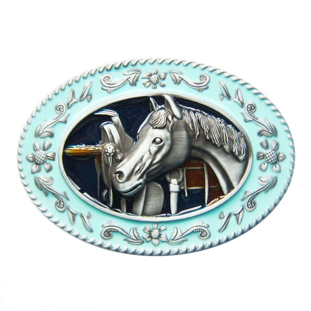 Horse In The Stable I Belt Buckle Horses Rider Ride Rodeo Western Cowboy Ranch