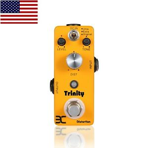 EX-Trinity-Distortion-Micro-Guitar-Effects-Pedal-3-Effects-Mode-Free-US-Shipping