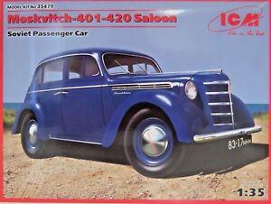 ICM Typ Moskvitch-401-420 Saloon,Soviet, Bausatz Kit, 1:35 scale,35479,135 Teile
