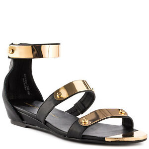 BLACK W GOLD NOW OR NEVER NEVER OR CHINESE LAUNDRY SANDALS Schuhe     733695