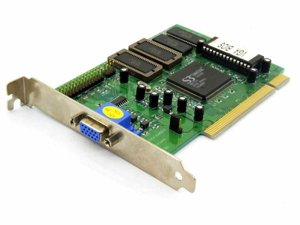 Gainward 9503-65 ICUVGA-GW503D S3 Trio64V2 / Dx 2MB PCI Video Graphic Card