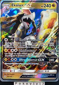 Carte-Pokemon-EKAISER-100-145-Holo-GX-Soleil-et-Lune-2-SL2-FR-NEUF