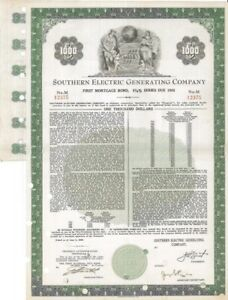 Southern-Electric-Generating-Company-gt-1959-Alabama-old-bond-certificate-share