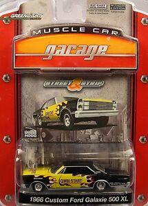BLACK 1966 FORD GALAXIE 500XL GREENLIGHT 1:64 SCALE DIECAST METAL MODEL CAR