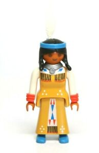 Playmobil Figure Western Indian Woman Mother w/ Braids Headband Feather 3871