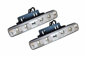 2-x-12V-5-LED-Xenon-White-Front-DRL-Daytime-Running-Lights-Fog-Lamps-E4-001-2