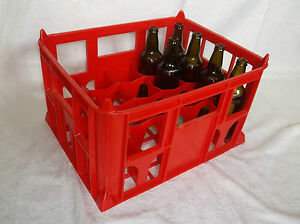 Plastic 20 bottle milk beer crate crates brand new for Empty wine crates