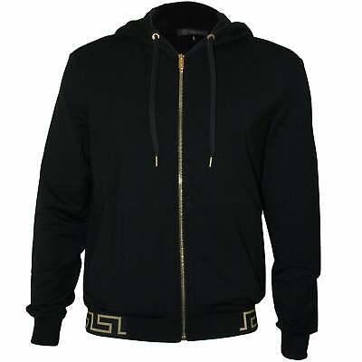 Versace Iconic Luxe Men's Tracksuit Hoodie, Blackgold