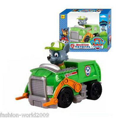 Paw Patrol Pup Dog Racer Character Figure Kids Children's Toy Gift - Rocky