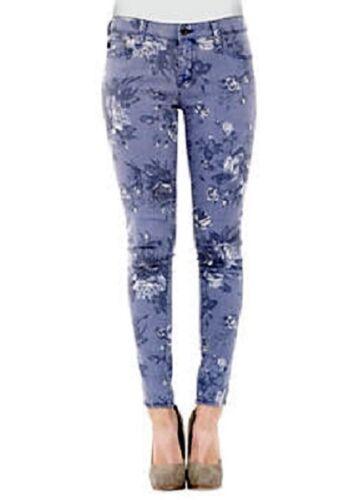MSRP $106 Big Star ALEX Rose Blue Floral Print Stretch Skinny Jeans