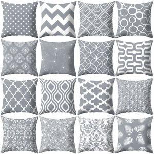 Am-18-039-039-Gray-Geometric-Square-Throw-Pillow-Case-Sofa-Cushion-Cover-Home-Decor-N