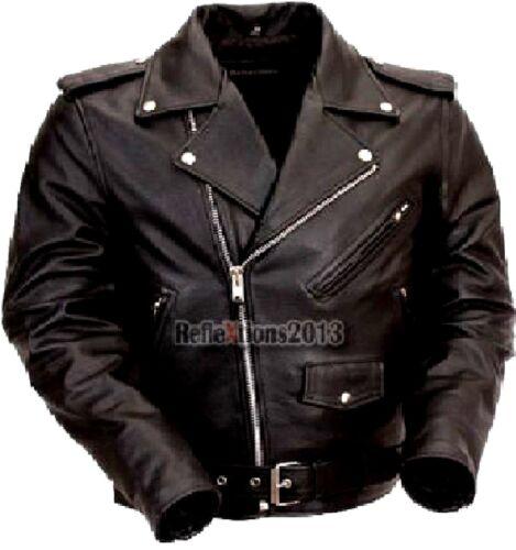 Brando Leather Jacket Motorbike Biker Rider Leather Brando Motorcycle Jacket