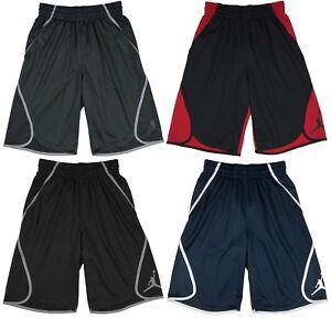 Air Jordan Mens Dri-Fit Flight Victory Basketball Shorts Black/Red/Grey<wbr/>/Navy New