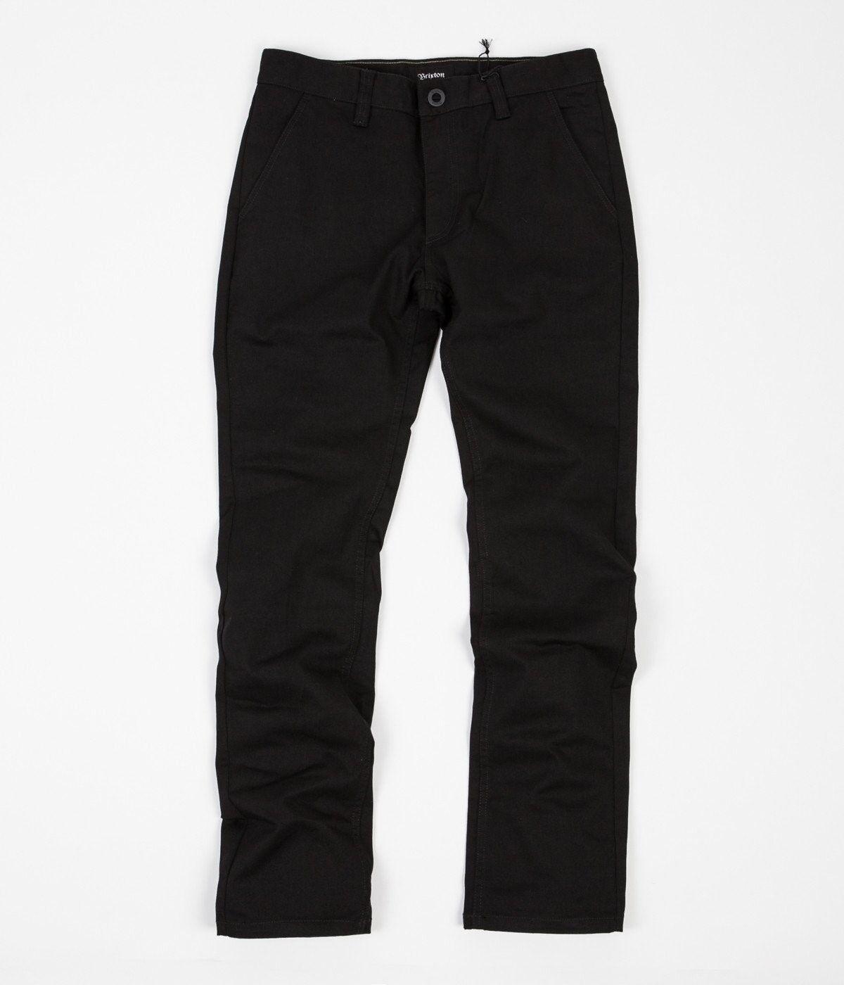 Brixton Reserve Chino Pant Trousers Standard Fit Fit Fit schwarz Straight Leg 36W 33L BNWT d3132d