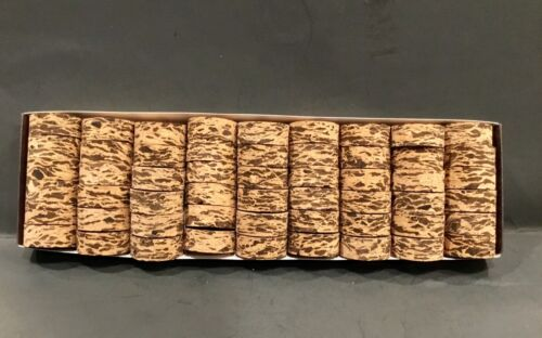 "1 1//4/"" x 1//2/"" x 1//4/"" Hole Cork Rings 12 Cactus Burl"