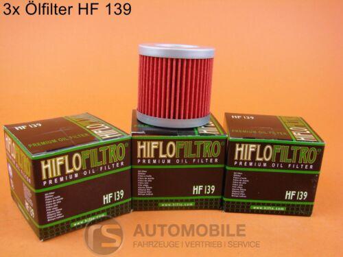 Motorrad Ölfilter Hiflo HF 139 Suzuki Kawasaki 3 Stück 3er Pack