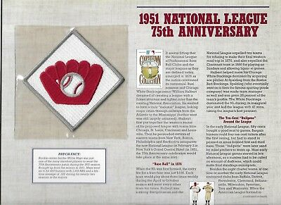 Hingebungsvoll 1951 Nationalen League 75th Anniv Willabee & Ward U.s Cooperstown Sammlung Fanartikel
