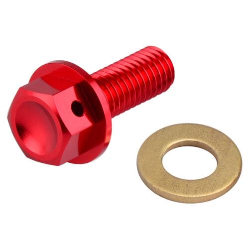 NiceCNC Magnetic Sump Oil Drain Bolt Plug /& Washer For Honda CRF250R 250X 450R