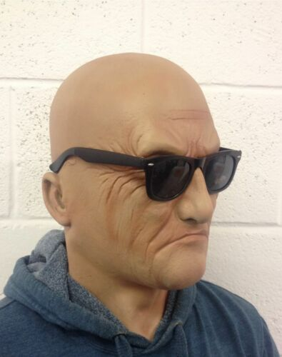 Realistic Man Mask Old Male Disguise Halloween Fancy Dress Bruiser Bouncer Latex