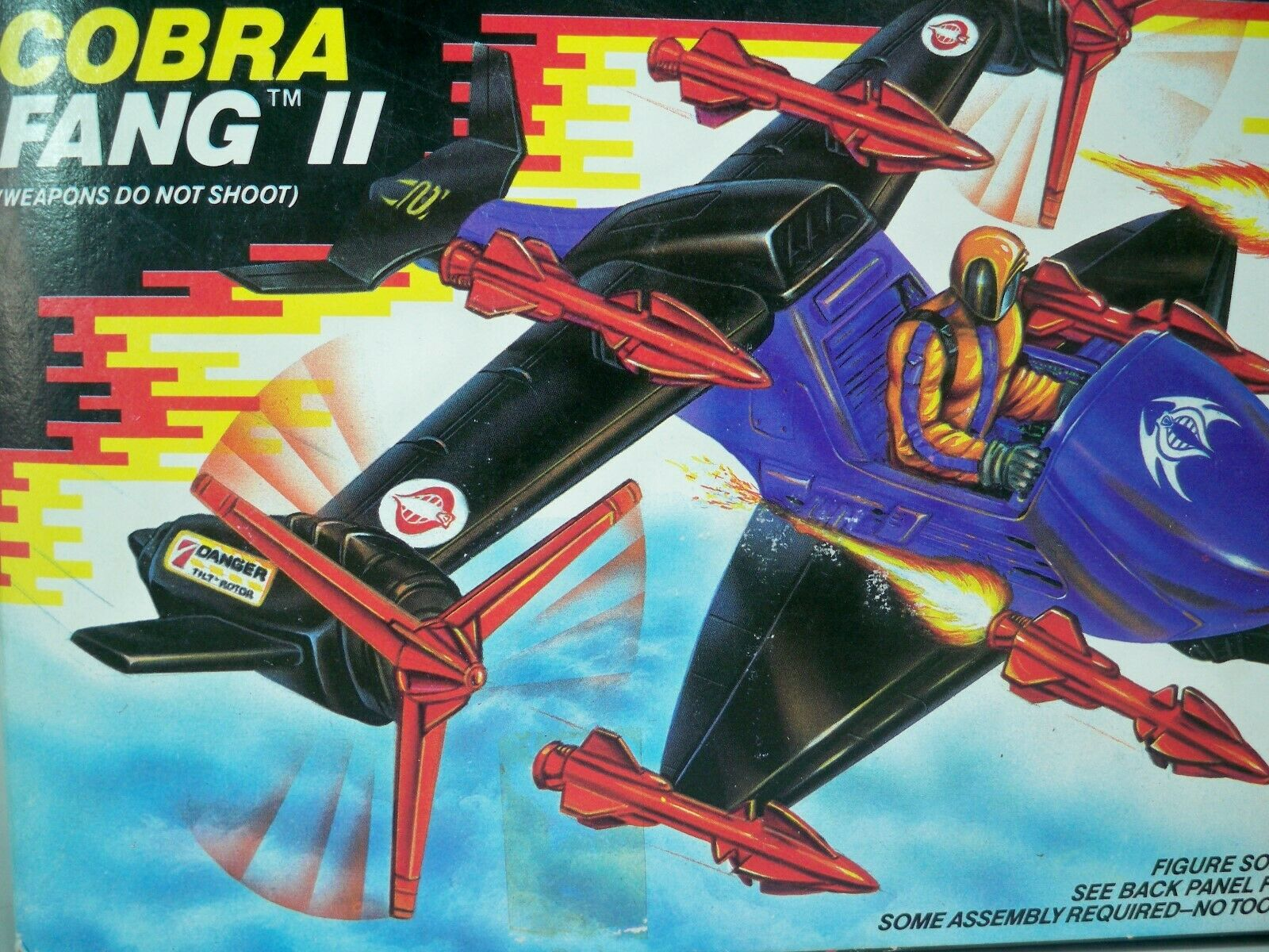 K1905221 COBRA FANG II 2 MISB MINT IN SEALED BOX GI JOE VINTAGE 1988 ORIGINAL