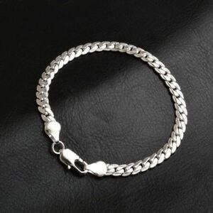 Men-039-s-925-Sterling-Silver-Chains-Bracelet-Bangle-Christmas-Gift-Free-Gift-Bag
