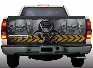 Biohazard-skull-zombie-truck-tailgate-vinyl-graphic-decal-wraps