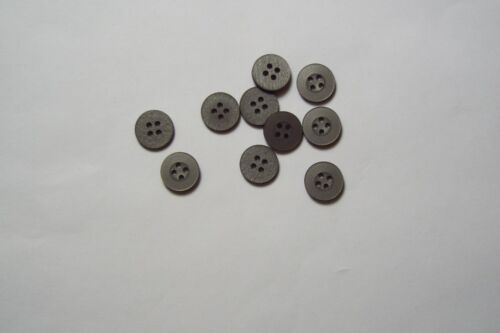 10pc 12mm Slate Grey Cardigan Trouser Shirt Kid Baby Button 0615