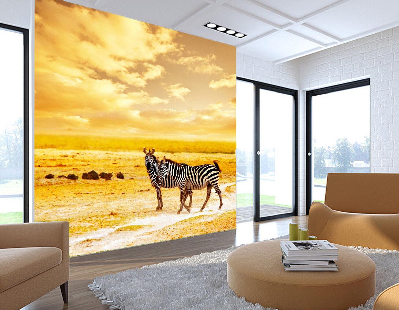 3D Wiese Zebra Natürlich 8873 Tapete Wandgemälde Tapeten Bild Familie DE Jenny | Grüne, neue Technologie  | Online Store  | Verschiedene Stile und Stile
