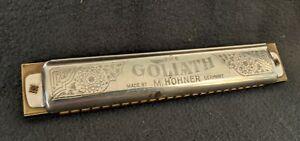 ORIGINAL VINTAGE M. HOHNER GERMANY GOLIATH HARMONICA