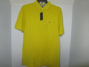 Tommy-Hilfiger-Mens-Polo-Shirt-Solid-Classic-Fit-Interlock-Logo-NWT-LG-FREE-SHIP