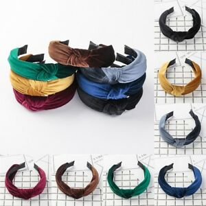 Women-039-s-Headband-Twist-Hairband-Bow-Knot-Cross-Tie-Velvet-Headwrap-Hair-Band-New