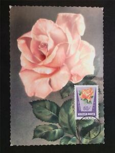 La Hongrie Mk 1962 Roses Rose Roses Maximum Carte Carte Maximum Card Mc Cm C6696-afficher Le Titre D'origine