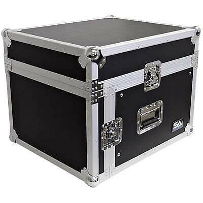 Seismic Audio 6 Space Rack Case w// Slant Mixer Top-Amp Effect PA//DJ Pro Audio