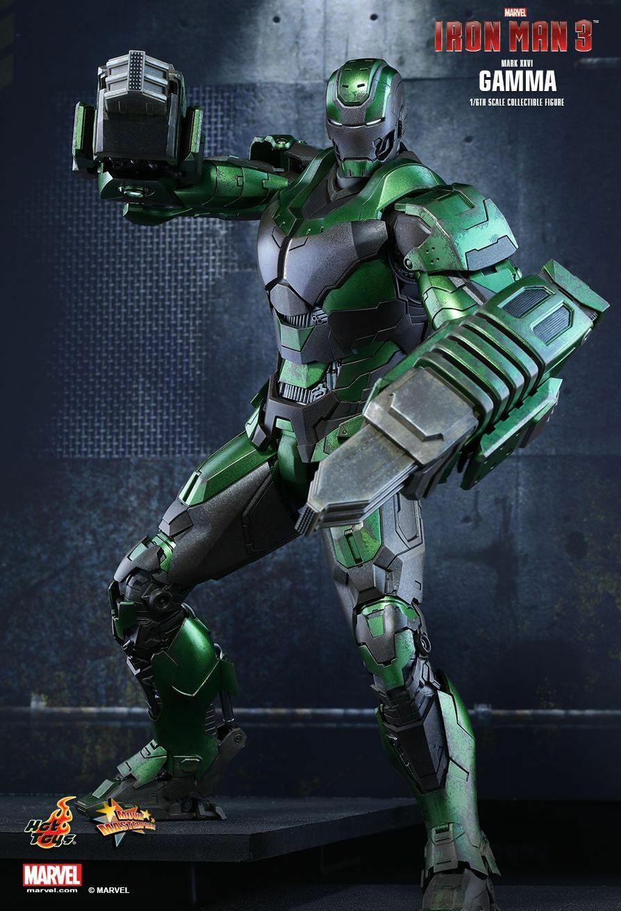 (ES) 1 6 Hot Juguetes Marvel Iron Man 3 MMS332 Gamma MK26 Mark XXVI 12  Acción Figur