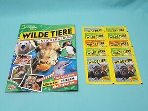 National-Geographic-Topps-Wilde-Tiere-Animals-Sticker-Sammelalbum-10-Tuten