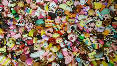 BIG SALE sweets,Cabochons,deco,Flat back,SLIME! WOW KAWAII DESSERTS LooK