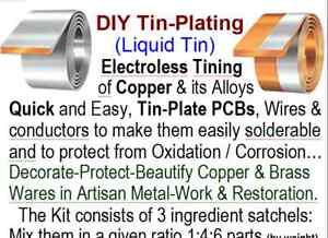 Details about PCB Tin-Plating DIY Liquid-Tin Kit For Copper & Alloys  Makes  1 9L Tining Soluti