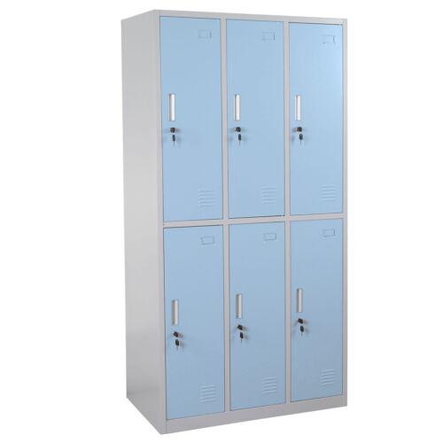 Schließfach Preston T829 6 Fächer blau Schließfachschrank Wertfachschrank