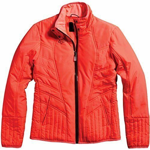 NWT WOMENS FOX RACING $110 SONAR PUFFER ZIP JACKET ACID RED L LARGE NEW