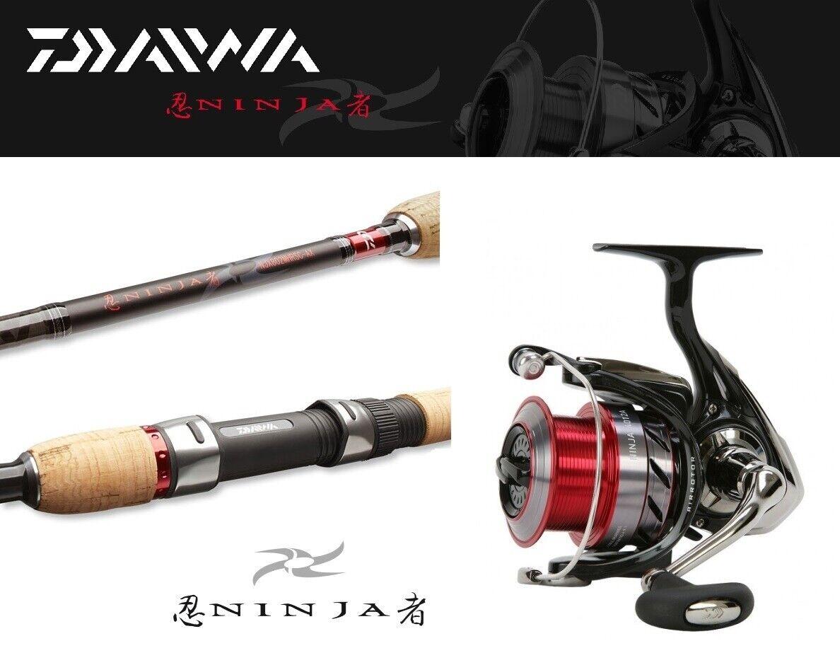 Daiwa Ninja jiggercombo 2,40m 7-28g + Ninja 1500a spinncombo jigrute papel